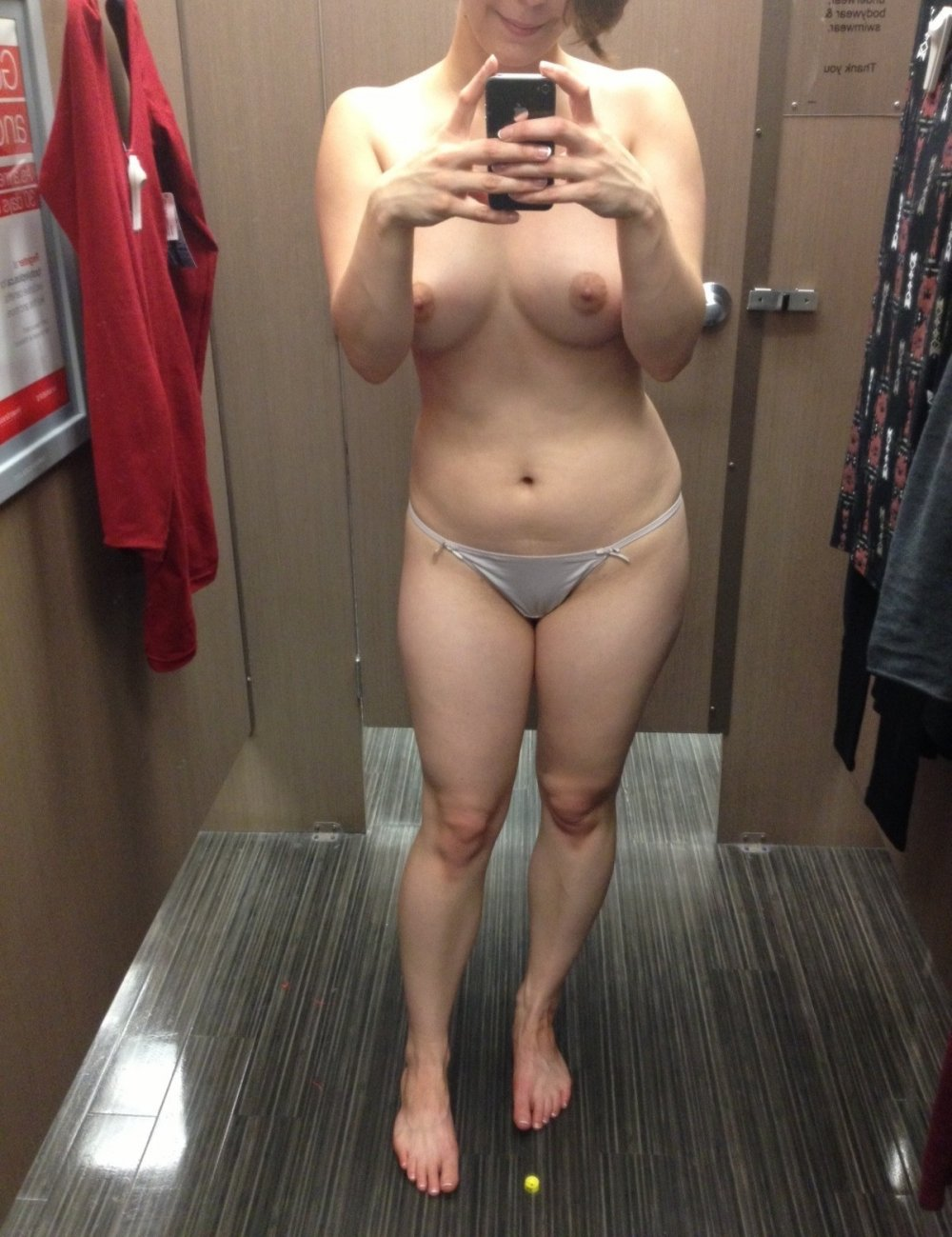 Nude women changing room