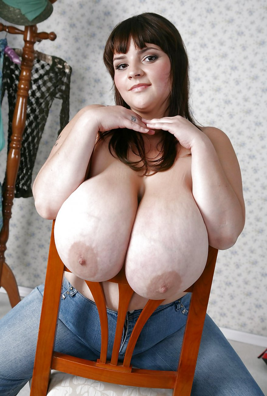 Naked woman giant breast