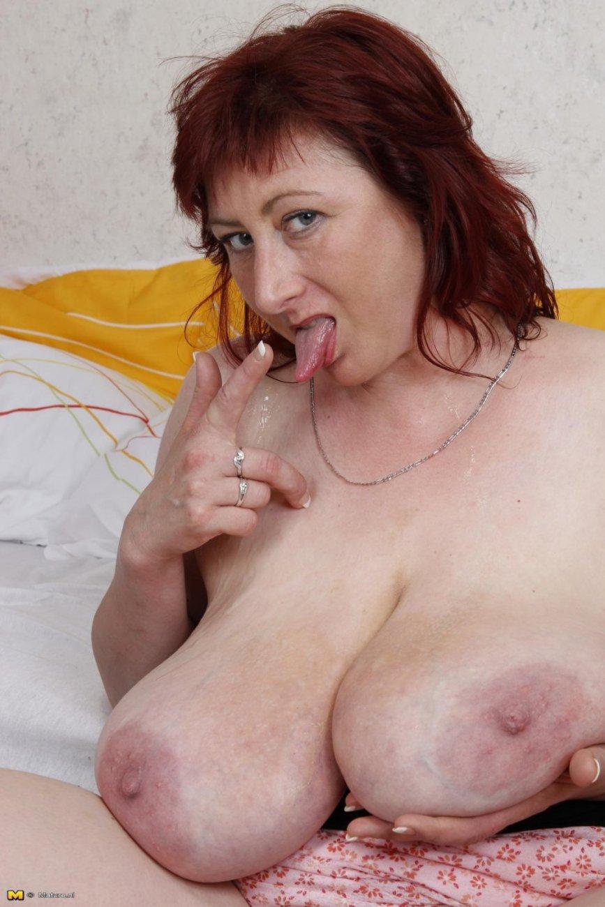зрелая тетя с огромными буферами порно - 7