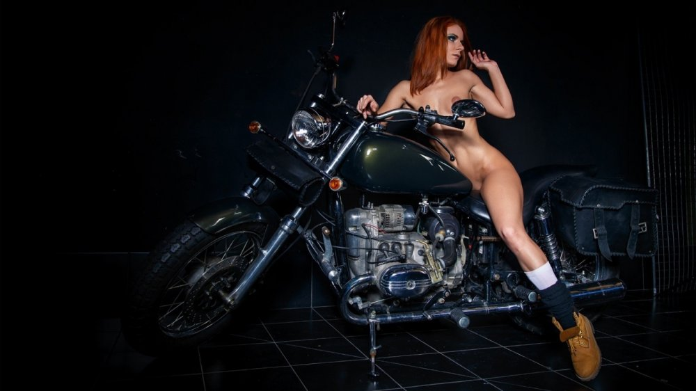 Bitches sexy motorcycles naked animated
