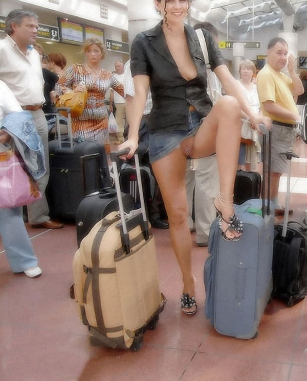 Nude at the airport anal lesbian